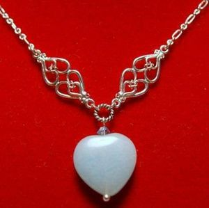 Jewelry - Amazonite Heart Pendant & Sterling Silver Chain